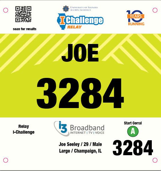 Relay I-Challenge Bib