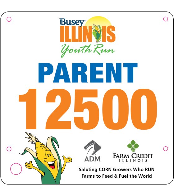 Youth Run Parent Bib 2016