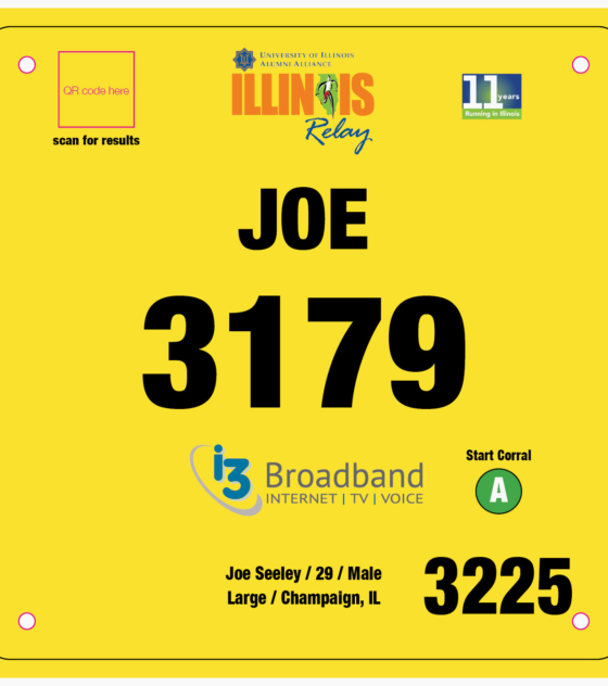 Marathon Relay Bib