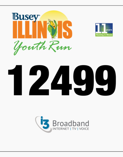 Youth Run Bib