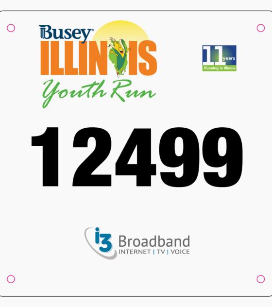 Youth Run Bib