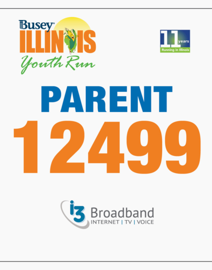 Youth Run Parent Bib