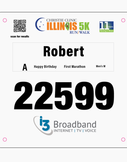 5K Race Bib