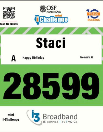 Mini i-Challenge Bib