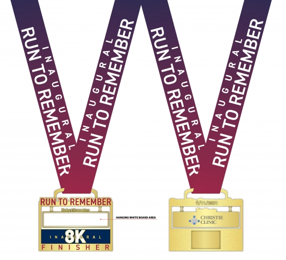 Run to Remember finisher medal